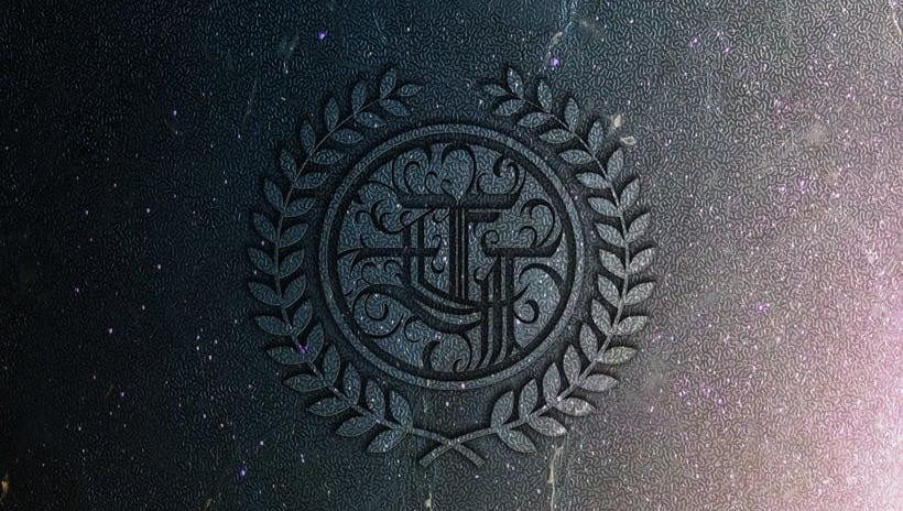 Monograma con estilo gótico: Eduardo García 0