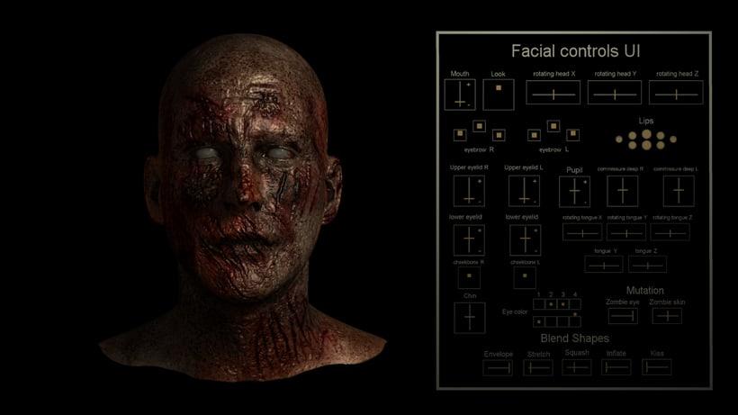 Rig Facial Maya 2016 + UI + mutation 1
