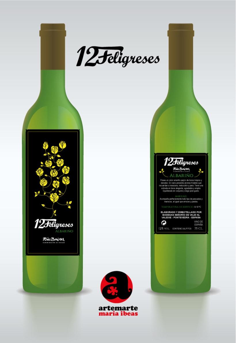 Diseño de varias etiquetas de Vino para Grupo Gallego Valei 1