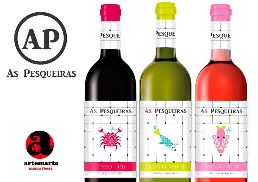 Diseño de varias etiquetas de Vino para Grupo Gallego Valei 2