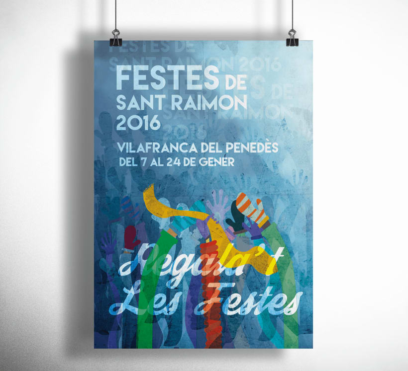 Cartell Festes de Sant Raimon, Vilafranca del Penedès -1
