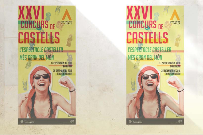 Proposta per la imatge gràfica del Concurs de Castells de Tarragona 2016  1