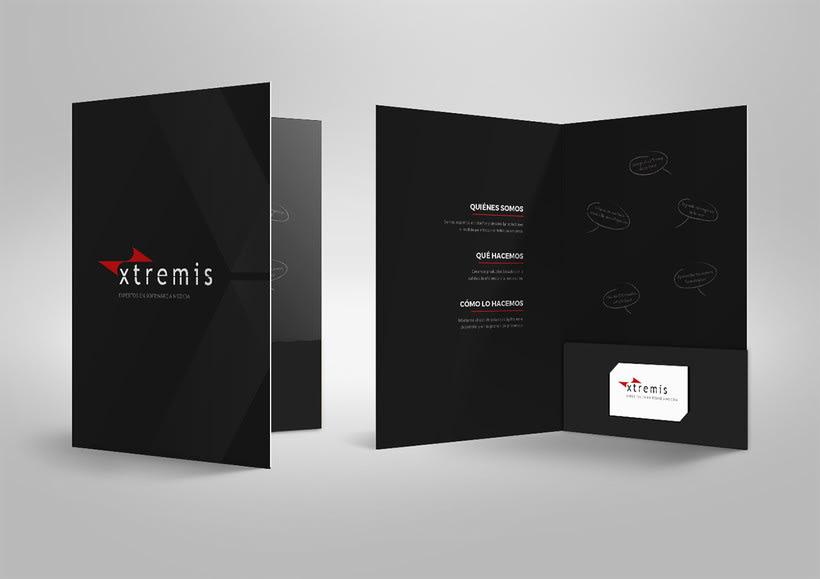 Diseño corporativo para Xtremis 1