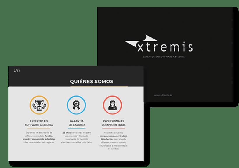 Diseño de presentación corporativa para Xtremis 1