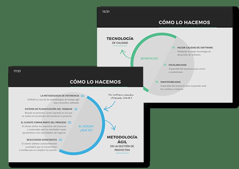 Diseño de presentación corporativa para Xtremis 3