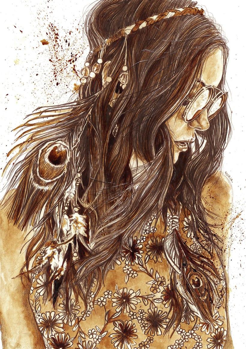 """Freedom"" - Coffee illustrations 1"