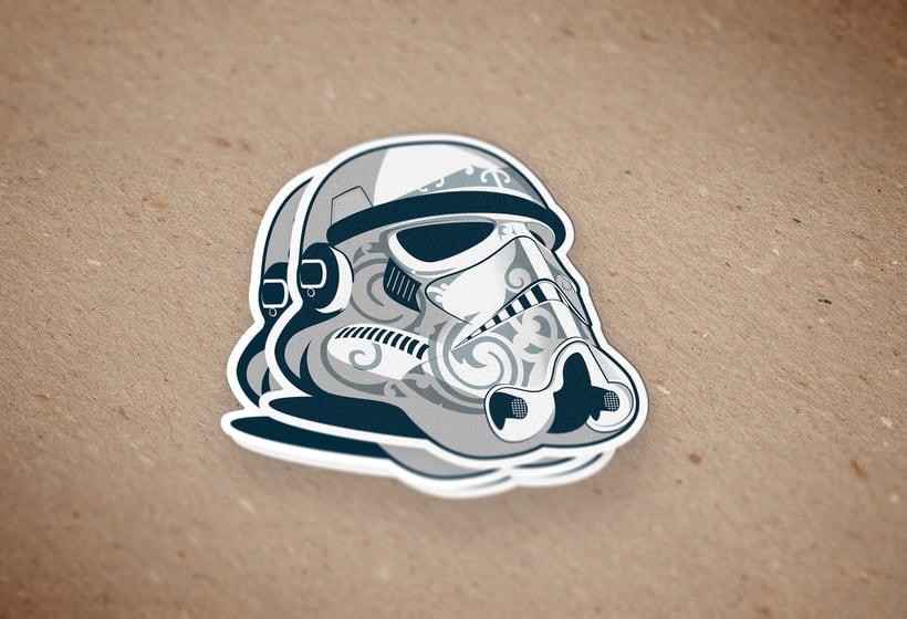 Pegatina Stormtrooper-maori 0