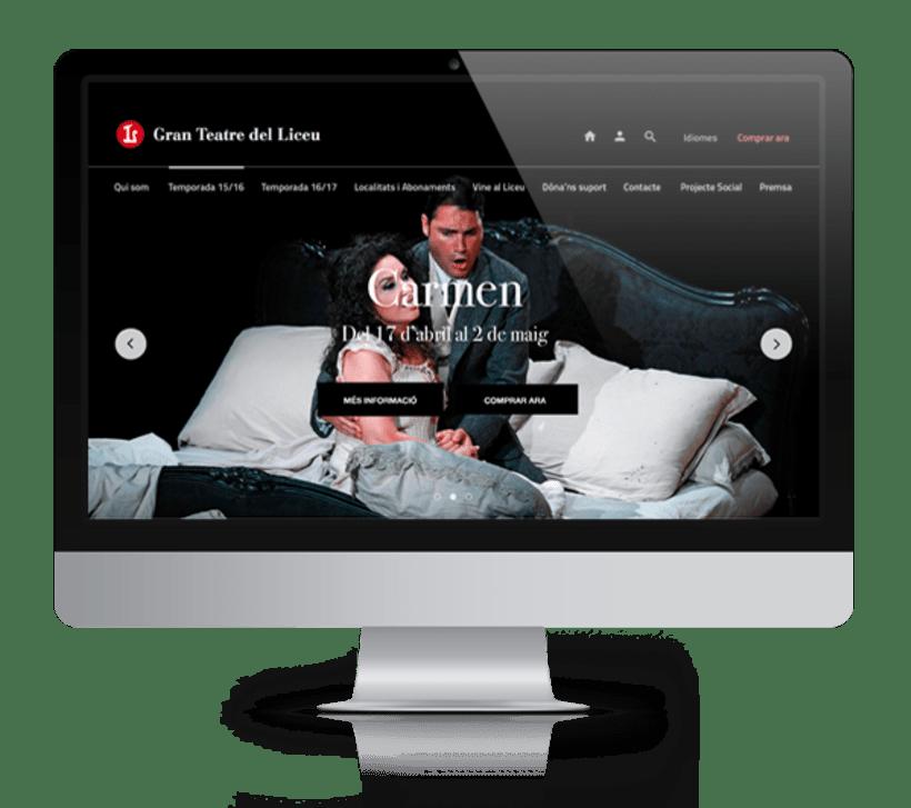 Propuesta de diseño web para Teatre del Liceu 1