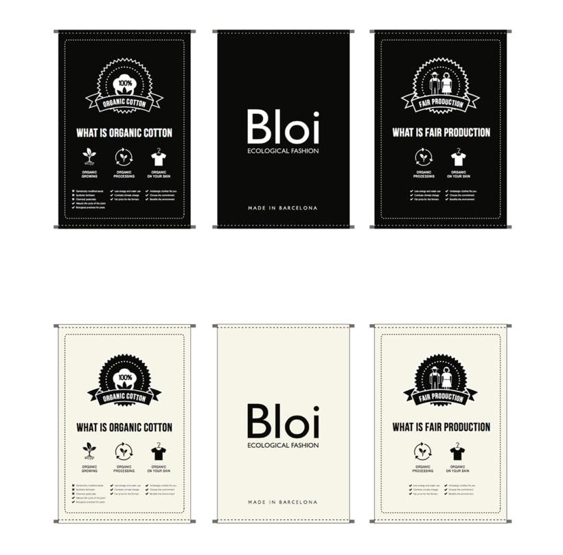 Identidad gráfica para Bloi. Ecological Fashion 4