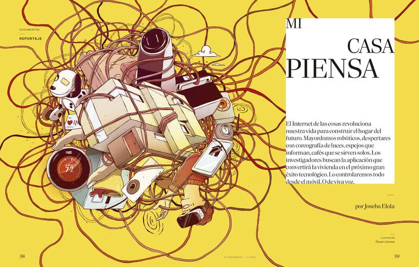 Ilustración de portada para El País Semanal 2
