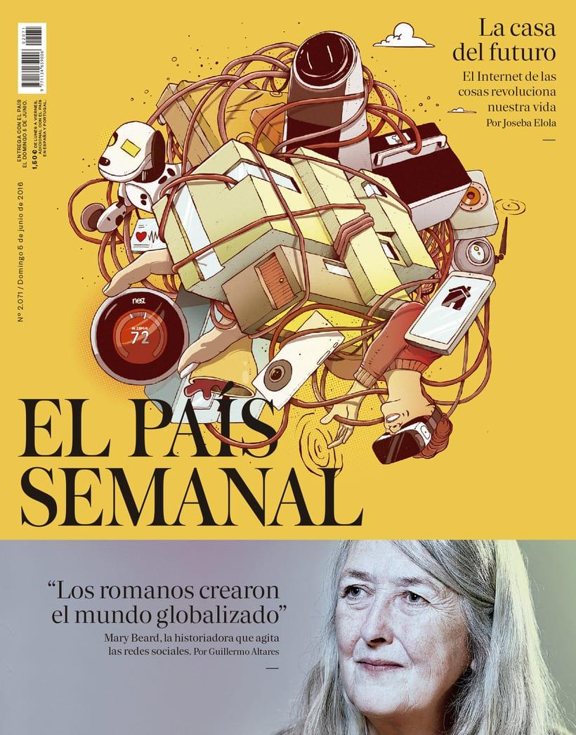 Ilustración de portada para El País Semanal 1