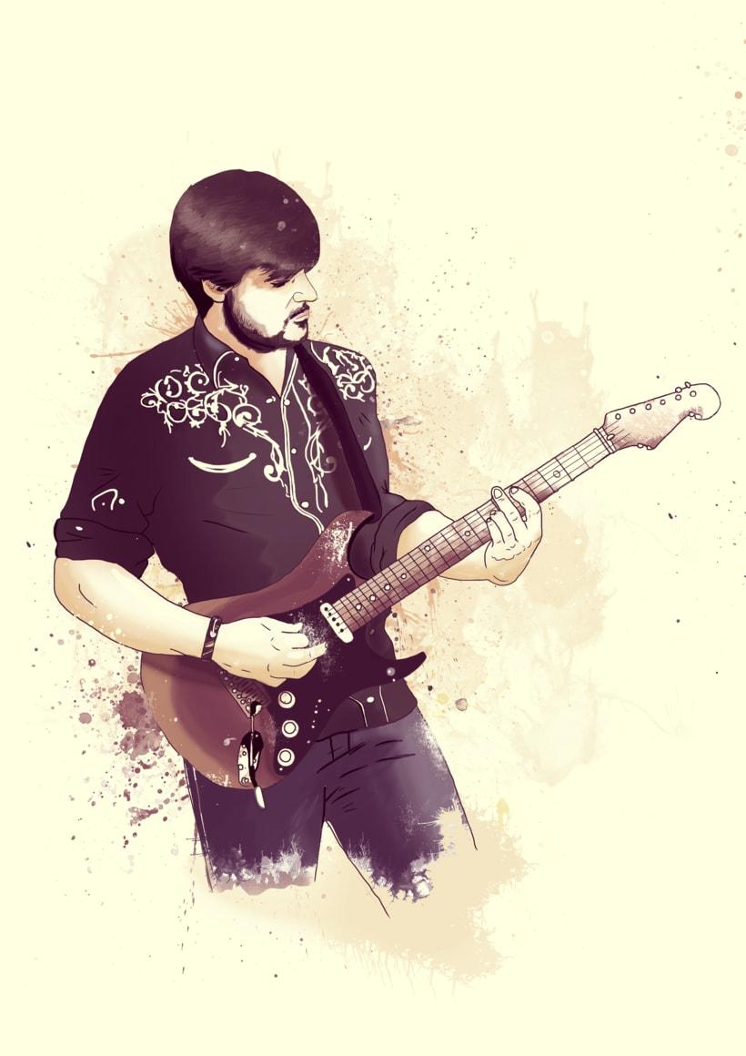 """Amigo y guitarrista """"Bicho Palo"""" -1"""