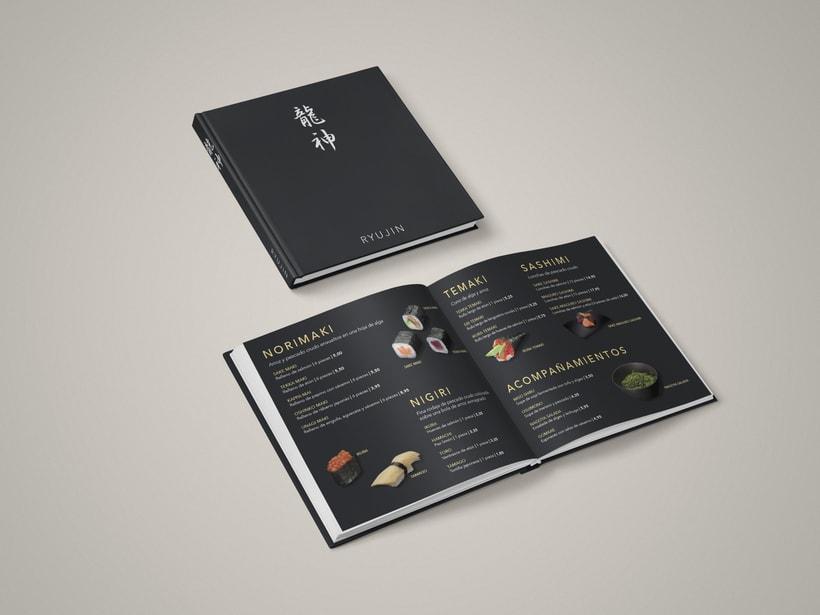 Carta de restaurante y recetario Japonés  1