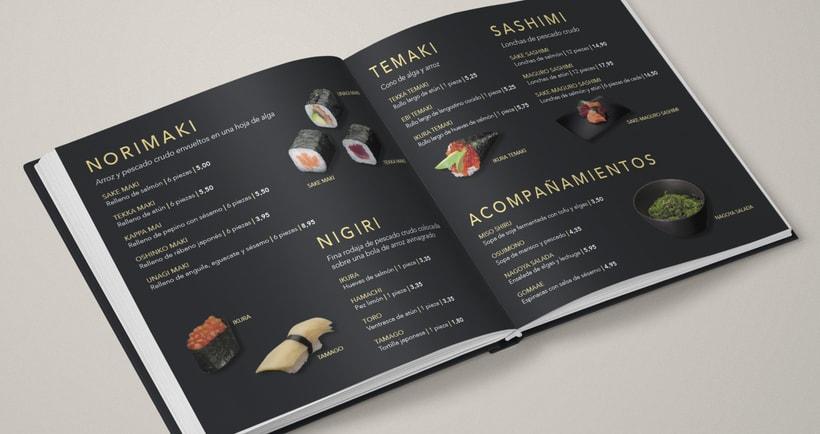 Carta de restaurante y recetario Japonés  2
