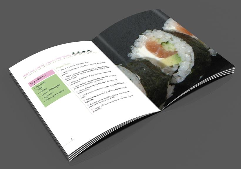 Carta de restaurante y recetario Japonés  4