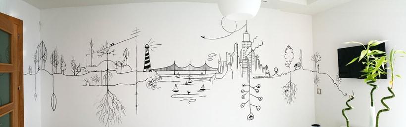 Mural Línea Continua 0