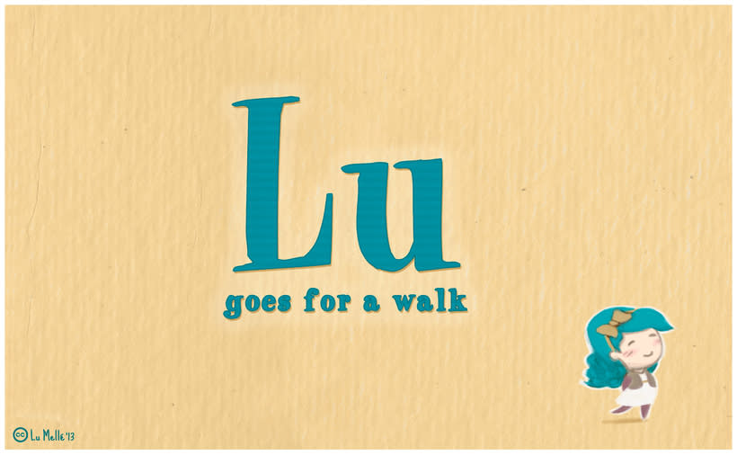 'Lu goes for a walk' 1