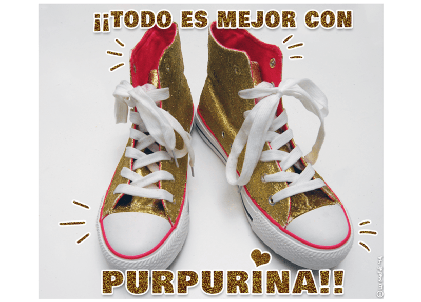 'Zapatillas purpurineadas' -Tutorial- 1