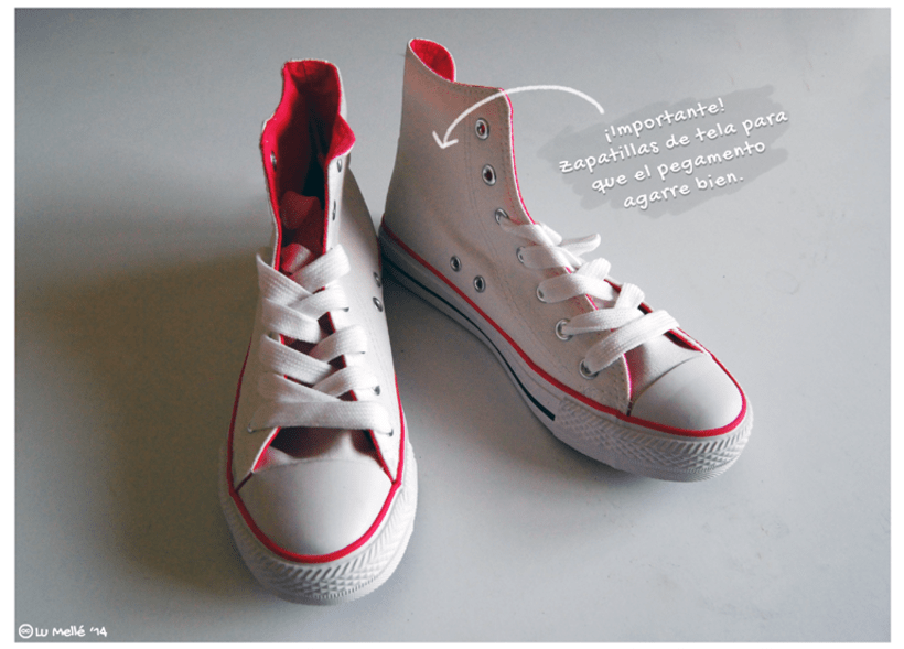 'Zapatillas purpurineadas' -Tutorial- 2