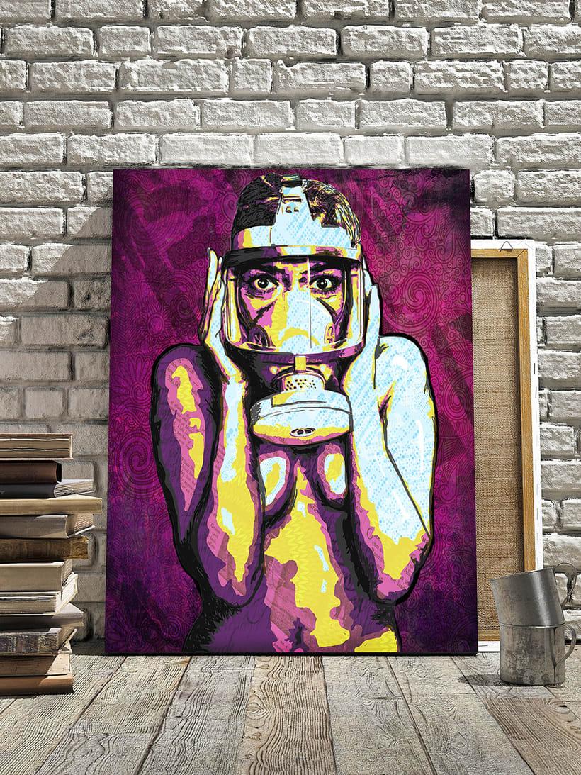 Masked Girl illustration artwork 1
