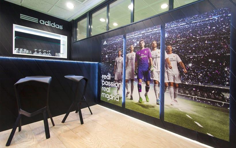 Palco VIP Adidas en el Santiago Bernabéu 1