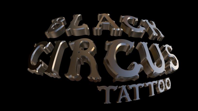 Diseño logo 3D - Tienda tattoo de Tenerife 1