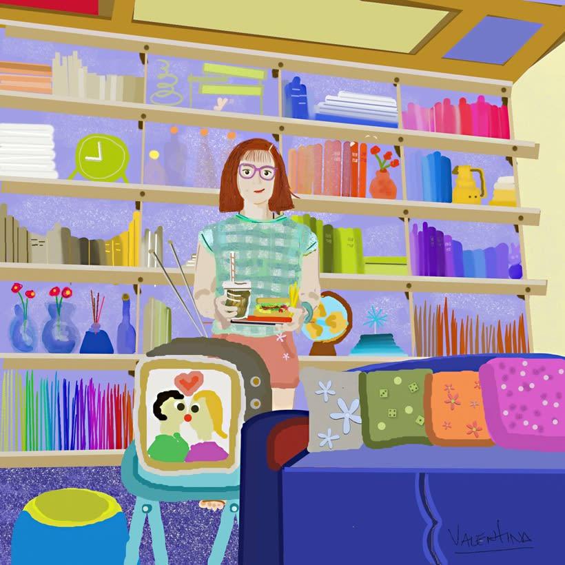 """""""En casita"""" de la serie Los nerds -1"""