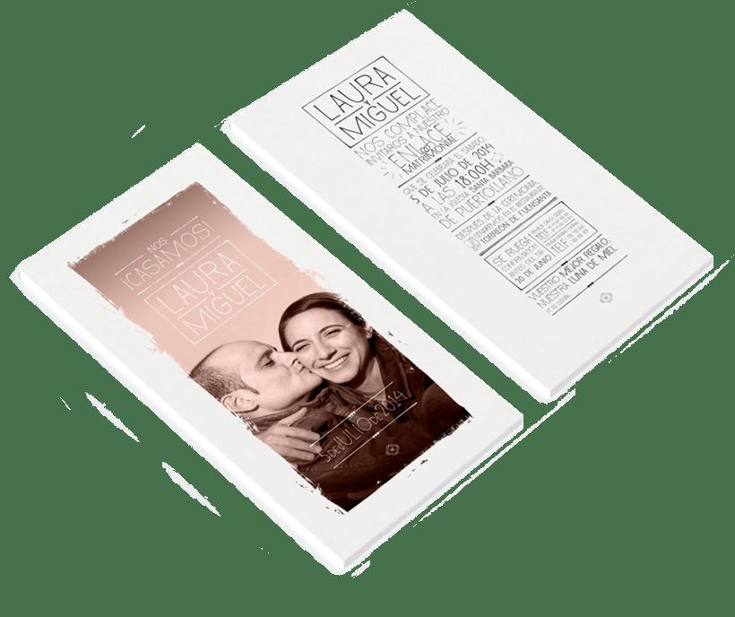 Invitaciones de boda: Laura y Miguel 1