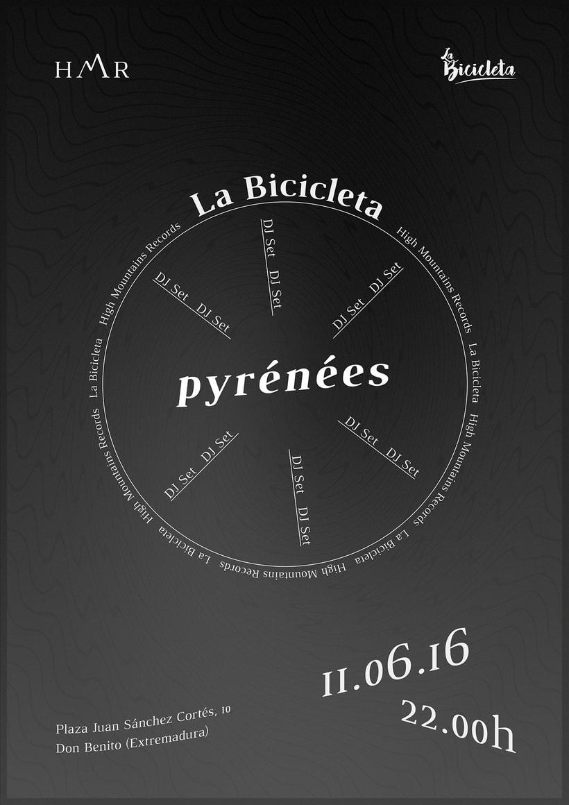 Pyrénées Poster (La Bicicleta DJ set) 2