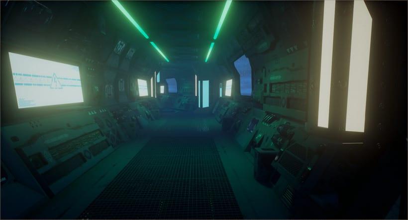 Sci-fi corridor: UE4 -1