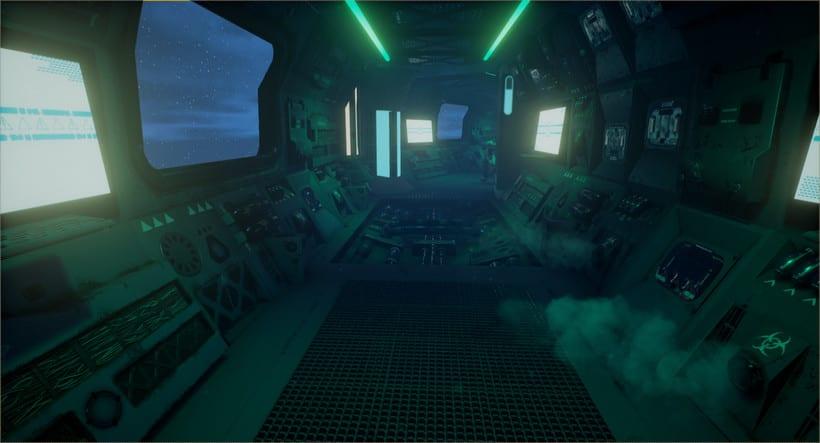 Sci-fi corridor: UE4 0