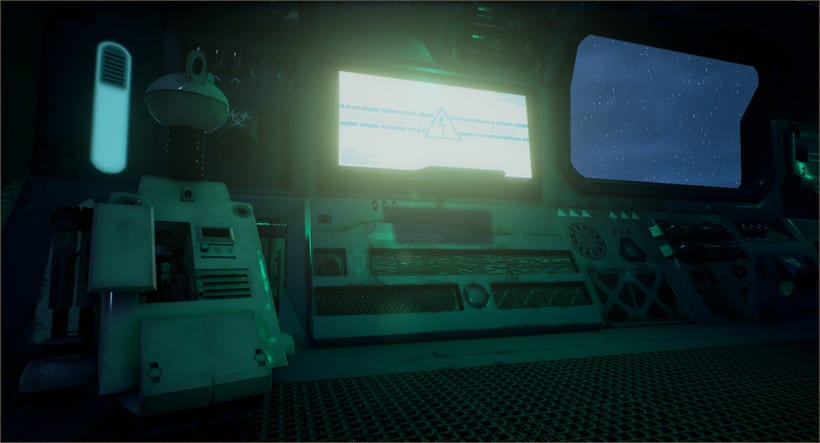 Sci-fi corridor: UE4 1