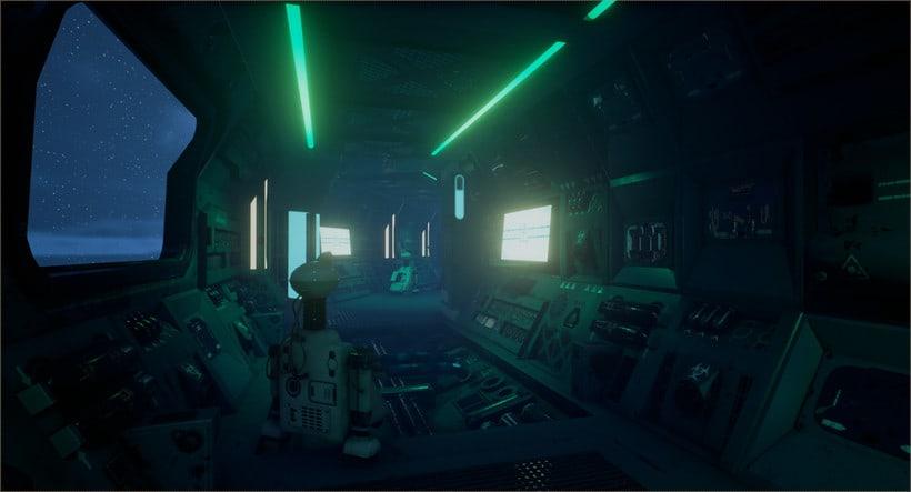 Sci-fi corridor: UE4 3