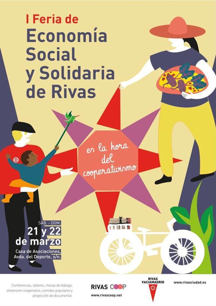 Ilustración I Feria de Economía Social y Solidaria de Rivas 1