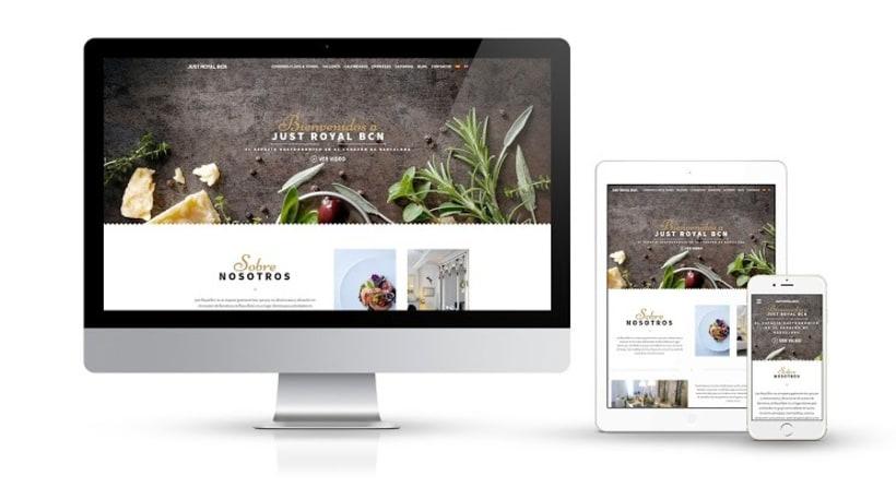 Diseño web, fotografía y branding para el espacio gastronómico Just Royal Barcelona -1