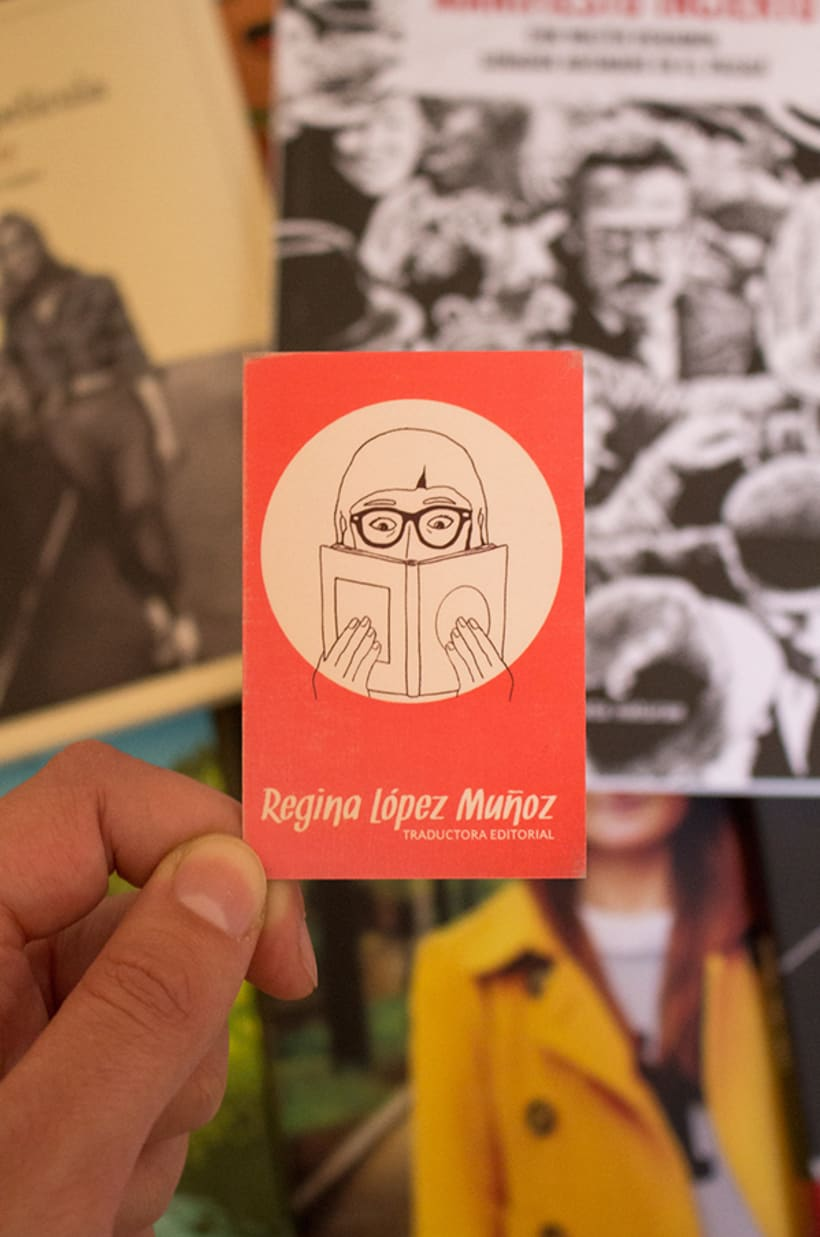 Tarjeta de visita para Regina López Muñoz 1