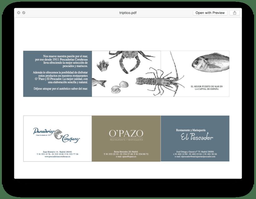 Diseños para el Restaurante El Pescador 1
