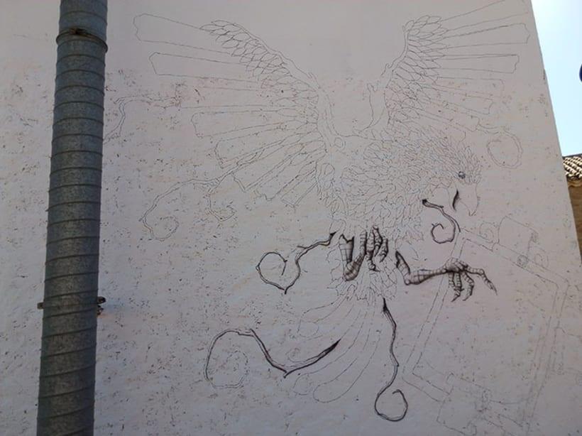 Aerografía pájaro 1