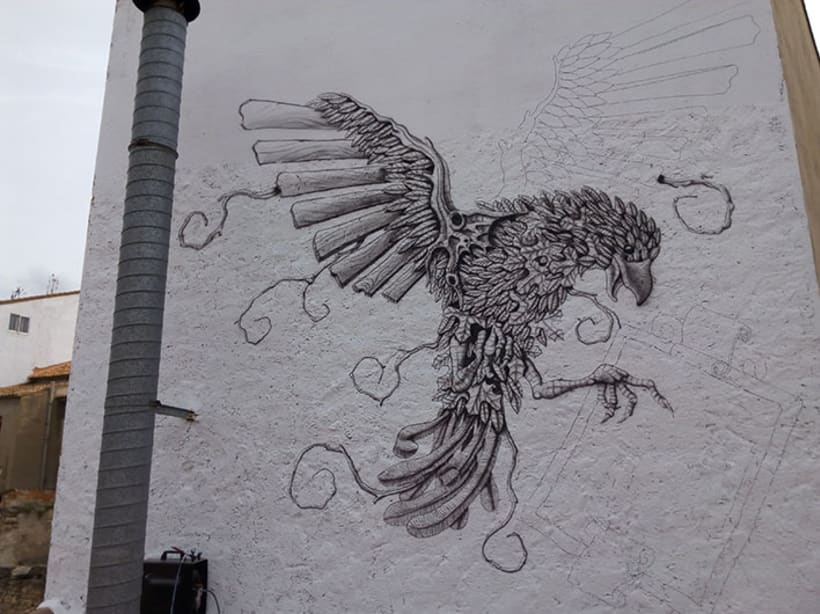 Aerografía pájaro 3