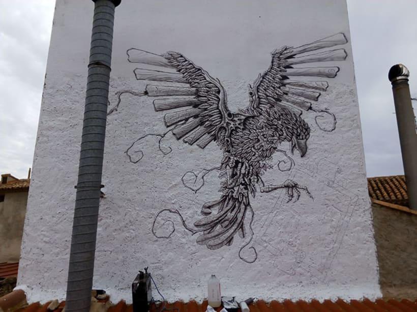 Aerografía pájaro 4