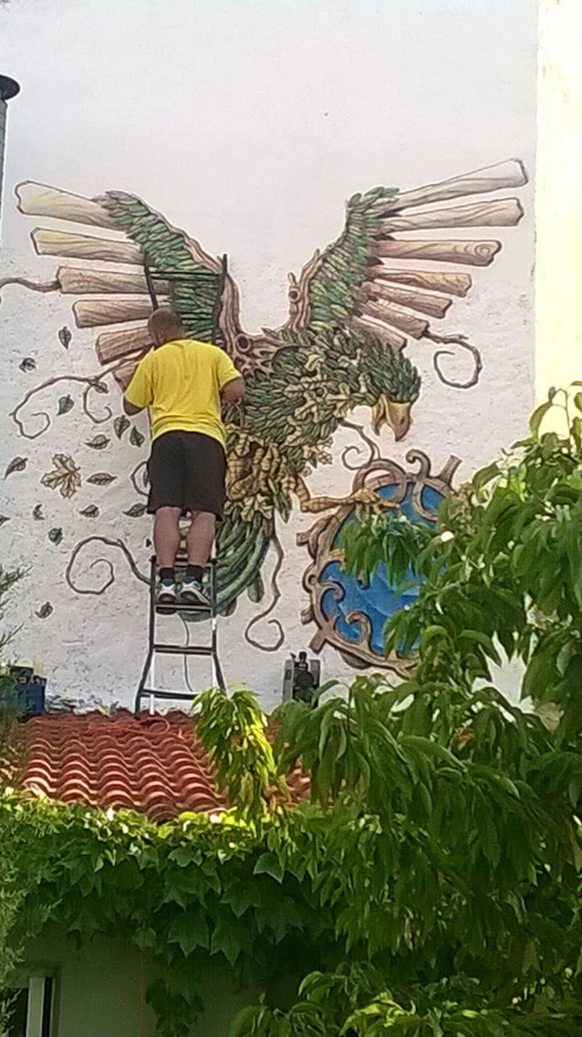 Aerografía pájaro 9