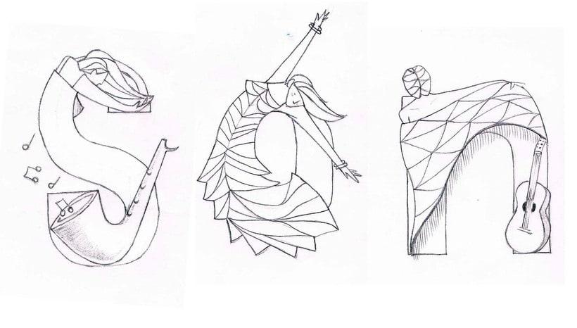 Mi Proyecto del curso: Ilustración digital para un festival de Música y Danza. 0