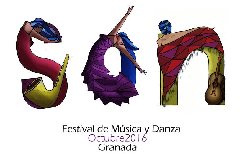 Mi Proyecto del curso: Ilustración digital para un festival de Música y Danza. 1