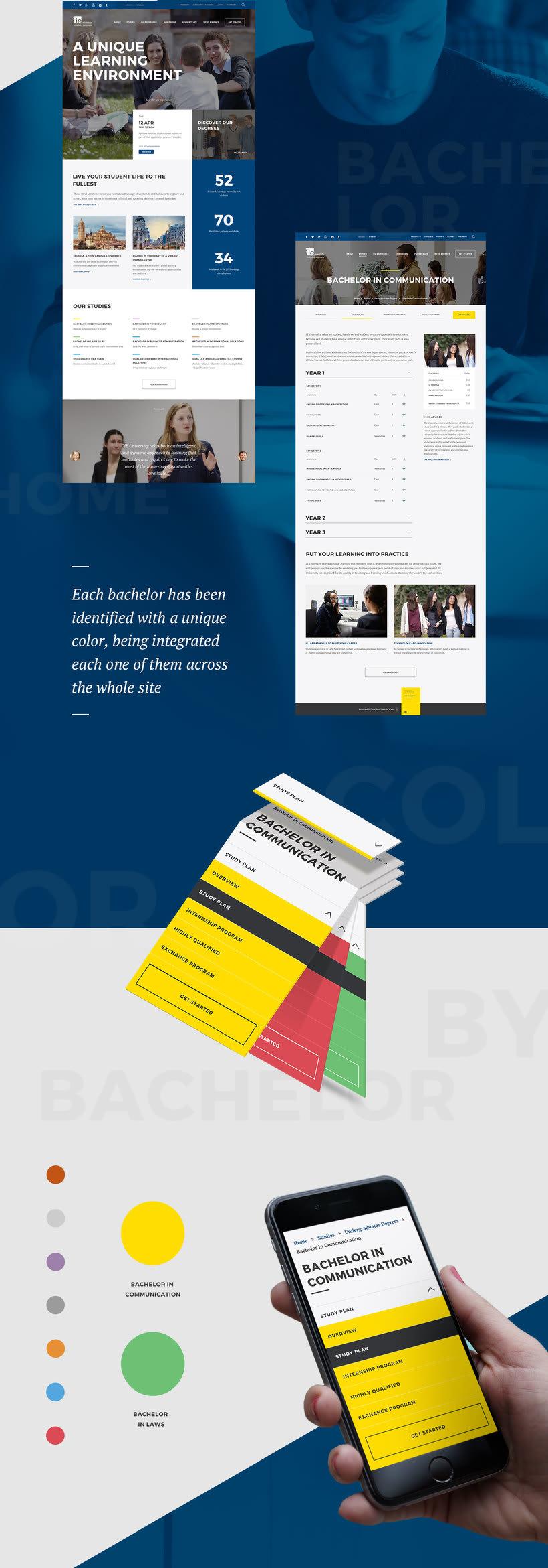 IE University Responsive Website 1
