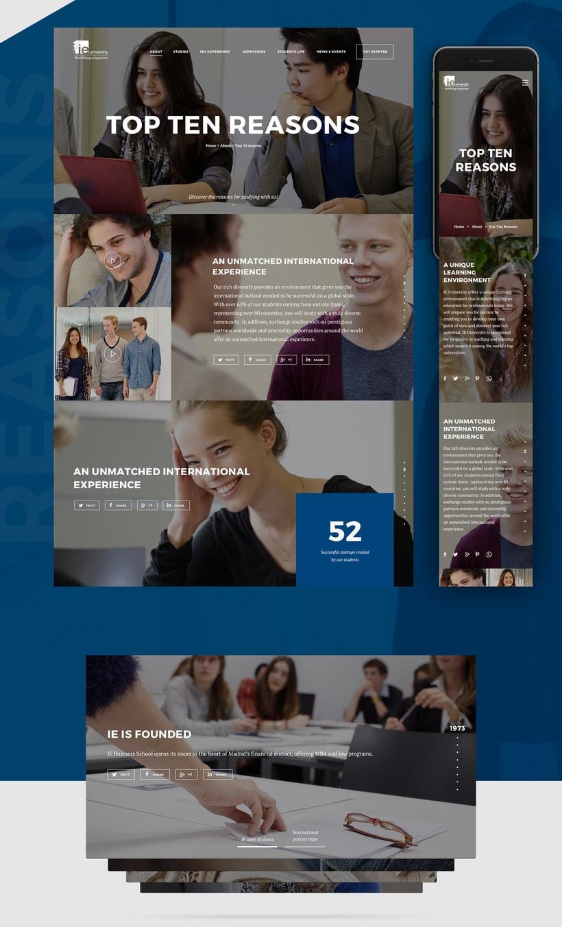 IE University Responsive Website 2
