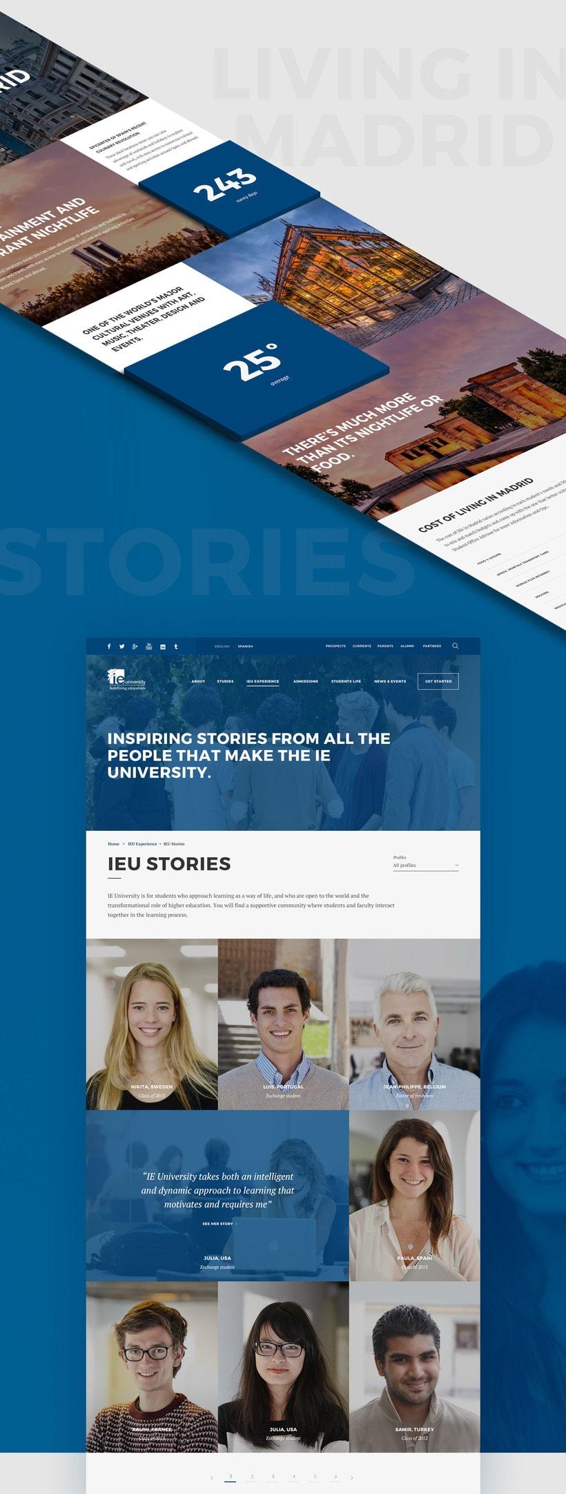 IE University Responsive Website 3