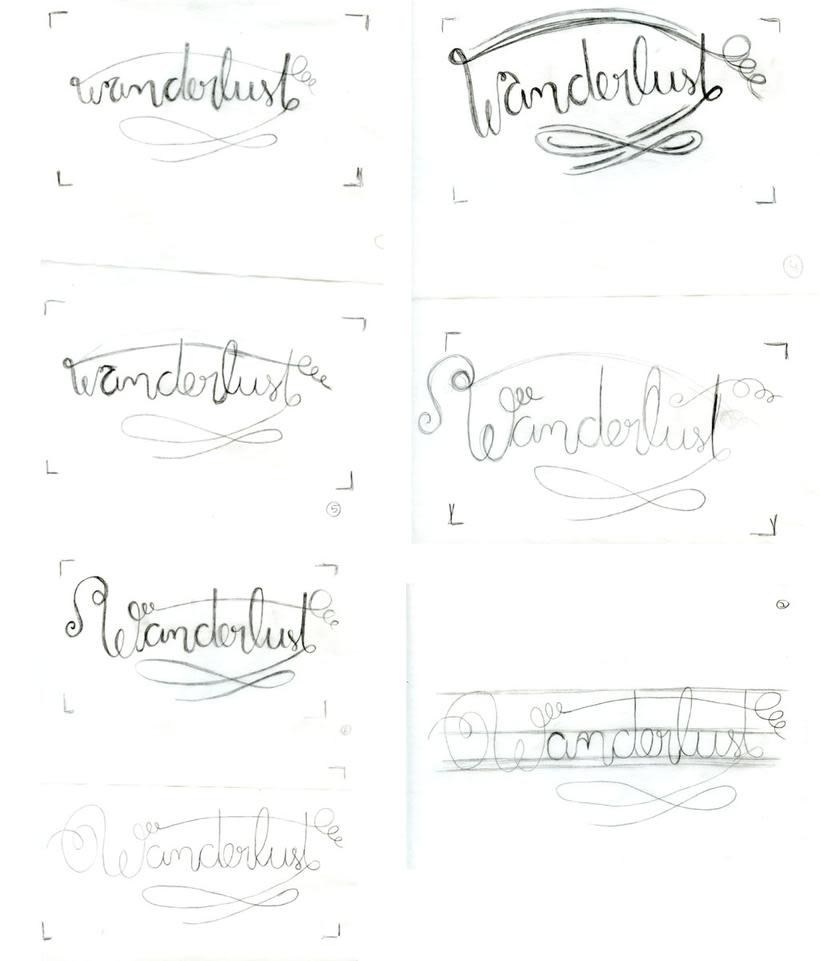 Los secretos dorados del lettering - Wanderlust 1