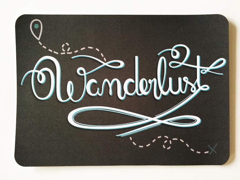 Los secretos dorados del lettering - Wanderlust 5