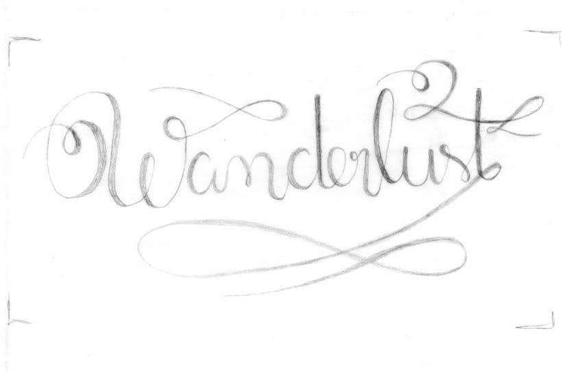 Los secretos dorados del lettering - Wanderlust 2