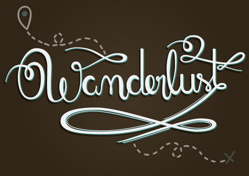 Los secretos dorados del lettering - Wanderlust 4